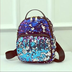 Handbags - Multi-Color Sequin Shoulder Bag